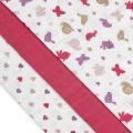 Tetra pleny s potiskem 70x70cm - Pink Snails - růžoví šneci T-Tomi