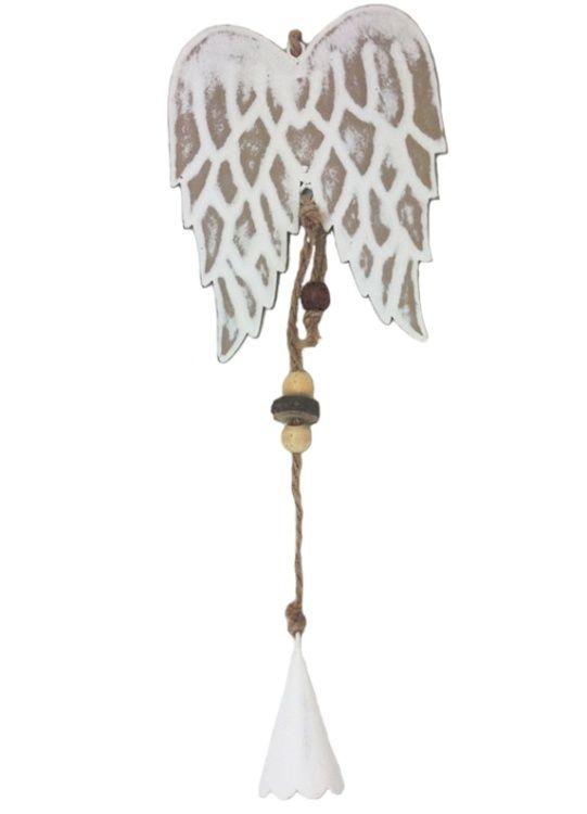 Závěsná dekorace andělská křídla kov 11cm