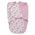 Zavinovačka pro novorozence SwaddleMe S růžový ptáček 2ks Summer Infant