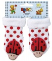 Chrastící kojenecké ponožky 3D beruška 0- 4 měsíců