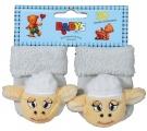 Chrastící kojenecké ponožky 3D ovečka 0- 4 měsíců
