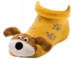 Chrastící kojenecké ponožky 3D pejsek 0- 4 měsíců