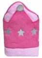 Dětská osuška s kapucí Playgro růžová