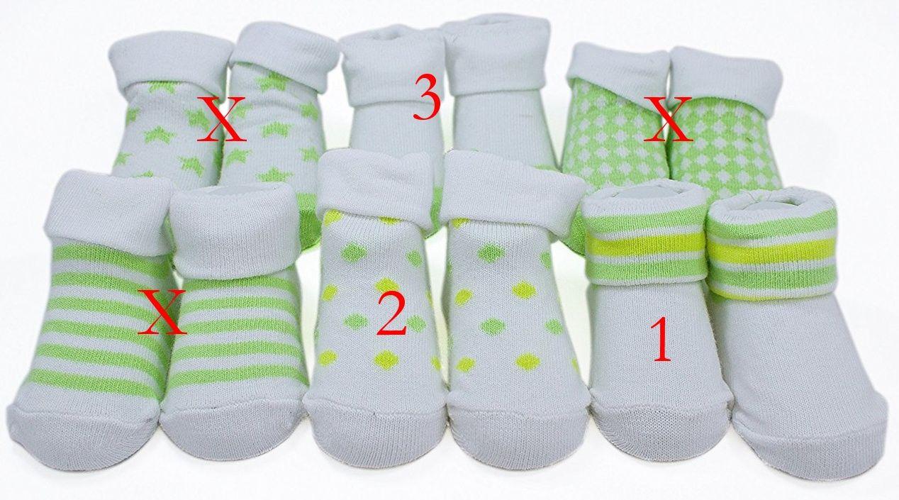 Kojenecké ponožky Piccollo Bambino 0-12 měs. - vzor 1