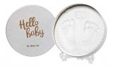 Sada pro otisk - kulatý rámeček s víkem a stojánkem Baby Art Magic Box Shiny Vibes
