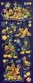 Samolepky Disney Mickey Mouse svítící ve tmě - arch B