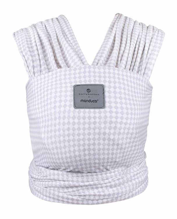 Šátek na nošení dětí Belly Button Manduca Sling SoftCheck Grey