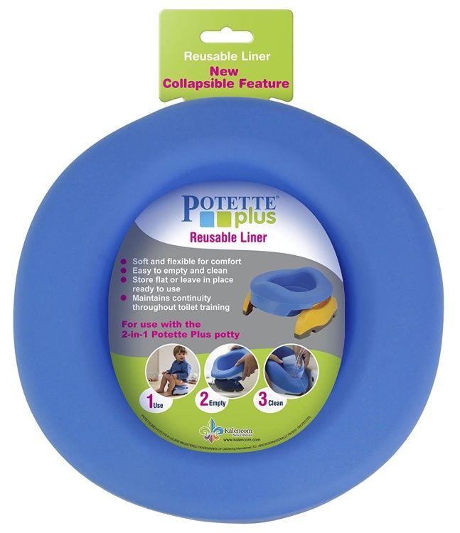 Skládací gumová vložka - cestovní nočník Potette Plus Reusable Potty Liner - modrá