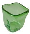 Skleněný čajový svícen - zelené sklo