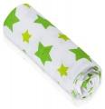 Bambusová osuška T-tomi zelené hvězdičky 1ks 100 x 80 cm