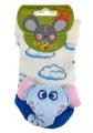 Chrastící kojenecké ponožky 3D slon 0- 4 měsíců