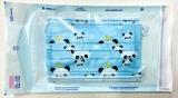Dětská ústenka - rouška modrá Panda s gumičkami - 5ks Steriwund