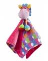 Dou dou hračka na mazlení - mazlíček muchláček růžový oslík Playgro
