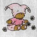 Látková dětská tetra plena s potiskem 70 x 70 cm Méďa růžový - 1 kus
